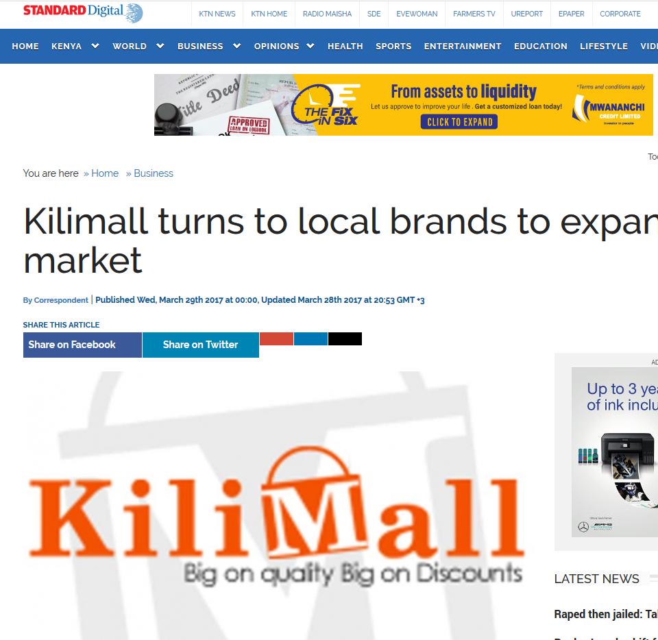 Kilimall Standard Calla PR